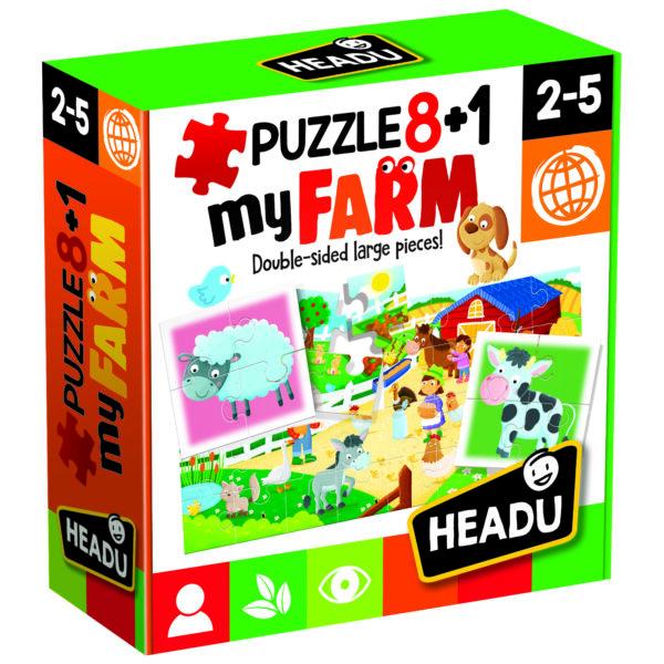 Puzzle 8+1 Farm - ALTRO - Puzzle per bambini
