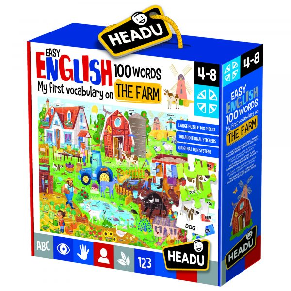 Easy English 100 Words Farm ALTRO Unisex 3-5 Anni, 5-8 Anni, 8-12 Anni ALTRI