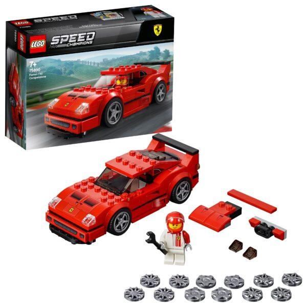 75890 - Ferrari F40 Competizione - Lego Speed Champions - Toys Center LEGO SPEED CHAMPIONS Unisex 12+ Anni, 5-8 Anni, 8-12 Anni ALTRI