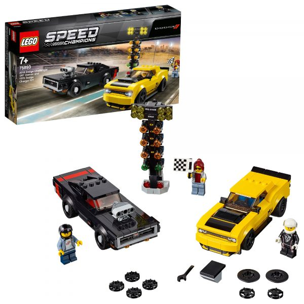 75893 - 2018 Dodge Challenger SRT Demon e 1970 Dodge Charger R/T - Lego Speed Champions - Toys Center - LEGO SPEED CHAMPIONS - Costruzioni