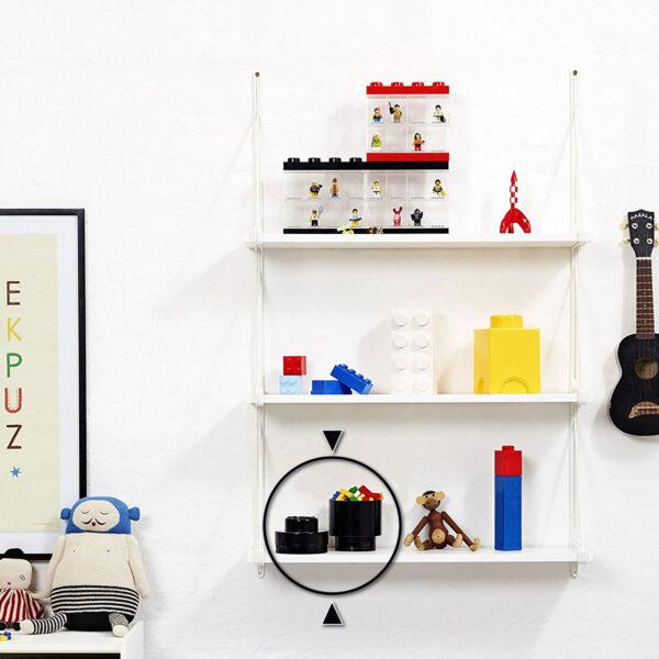 ALTRO ALTRI Contenitore LEGO Brick 1 Tondo Nero - Licenza Lego - LEGO - Marche Unisex 12-36 Mesi, 12+ Anni, 3-5 Anni, 5-8 Anni, 8-12 Anni
