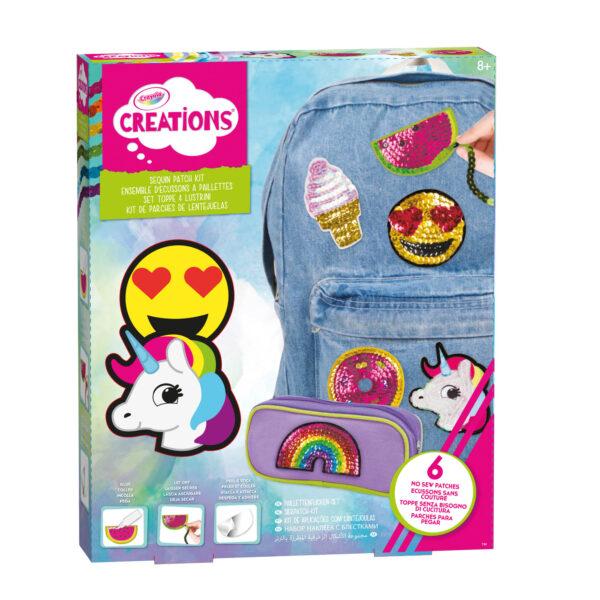 Set Toppe e Lustrini Crayola Creations CRAYOLA Femmina 12+ Anni, 5-8 Anni, 8-12 Anni ALTRI