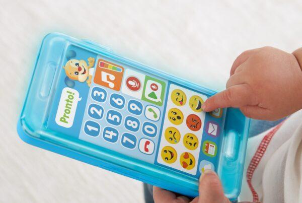 ALTRI FISHER-PRICE Unisex 12-36 Mesi Fisher Price- Smartphone Lascia Un Messaggio, Giocattolo Elettronico Ridi Impara 18-36 Mesi