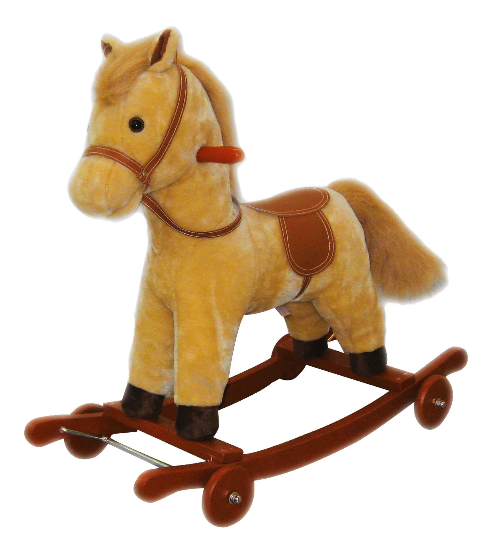 Cavallo A Dondolo Con Ruote.Cavallo A Dondolo 70x23x55cm Ami Plush Marche Esclusive