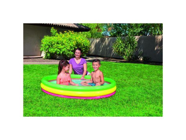 ALTRI BESTWAY PISCINA SUMMER A  3 ANELLI COLOR CON FONDO GONFIABILE 152X30 CM ALTRO 3-4 Anni, 5-7 Anni Unisex