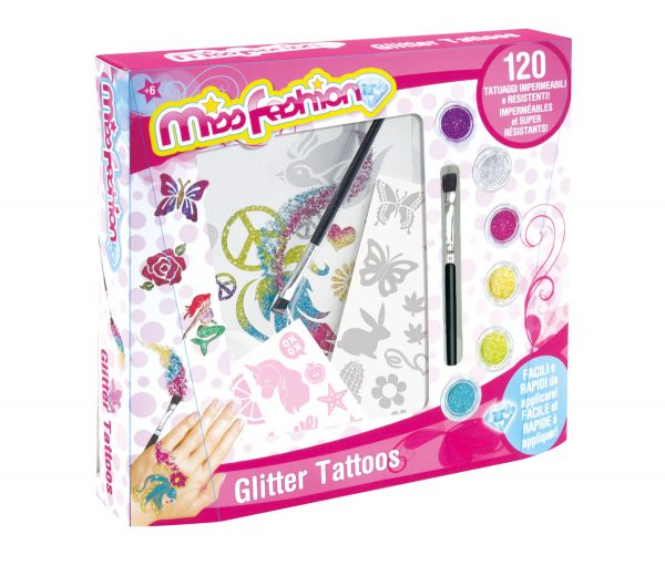 MISS FASHION GLITTER TATOOS MISS FASHION Femmina 12+ Anni, 5-8 Anni, 8-12 Anni ALTRI