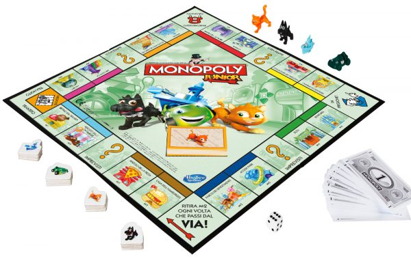 MONOPOLY JUNIOR - Hasbro Gaming - Toys Center ALTRI Unisex 3-5 Anni, 5-7 Anni, 5-8 Anni, 8-12 Anni HASBRO GAMING