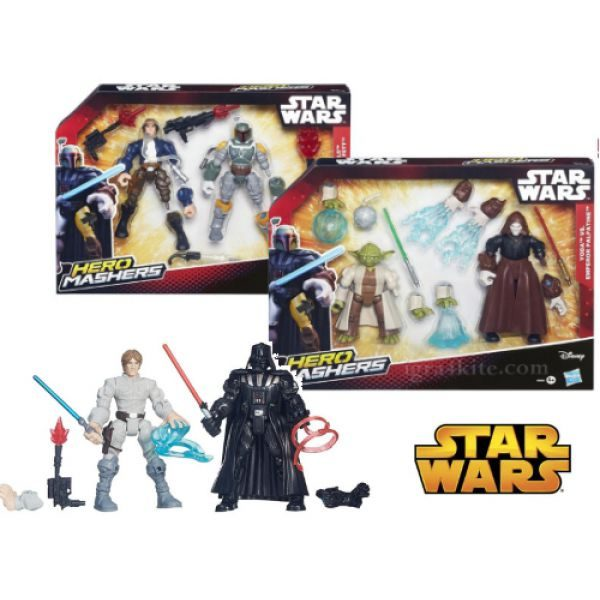 SW HERO MASHERS BATTLE PACK - assortito Disney Femmina 12-36 Mesi, 3-4 Anni, 3-5 Anni, 5-7 Anni, 5-8 Anni Star Wars