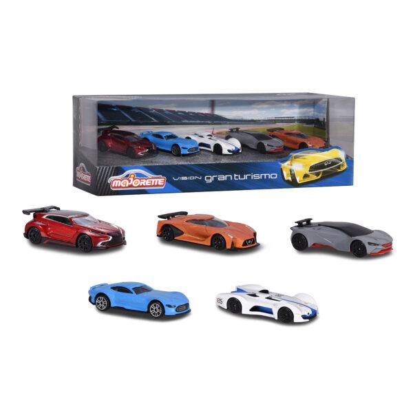 Gran Turismo 5 pieces Giftpack MAJORETTE Maschio 12-36 Mesi, 12+ Anni ALTRI