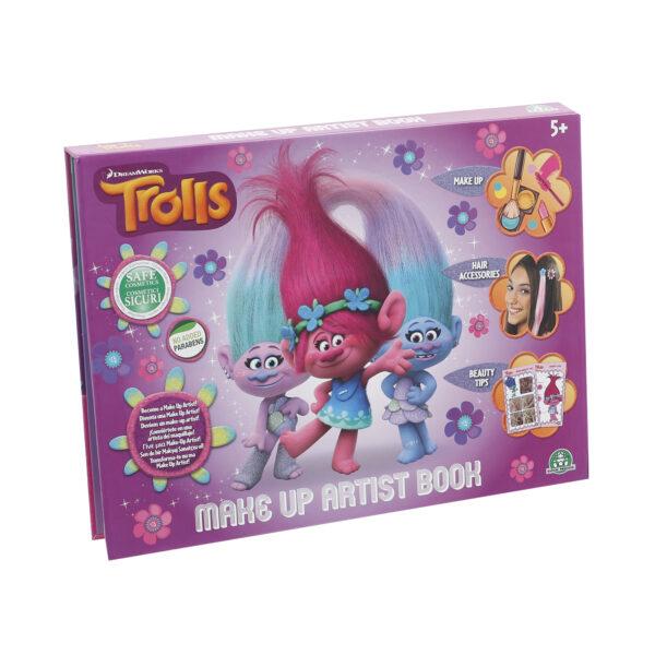 Trolls - Make up Artist book, set trucchi bambina con ombretti e lucidalabbra ALTRO Femmina 12-36 Mesi, 3-5 Anni, 5-7 Anni, 5-8 Anni, 8-12 Anni TROLLS