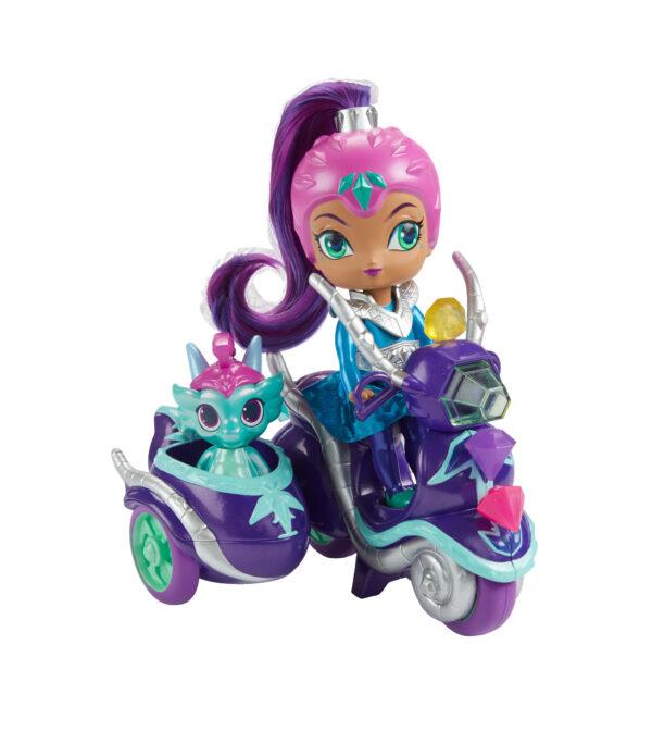ALTRO SHIMMER & SHINE Shimmer & Shine - Scooter di Zeta, grande bambola di Zeta con scooter e Nazboo 3+ anni - FHN31 Femmina 12-36 Mesi, 12+ Anni, 3-5 Anni, 5-8 Anni, 8-12 Anni