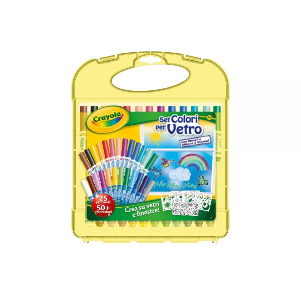 Set Colori per Vetro - Altro - Toys Center CRAYOLA Unisex 12+ Anni, 3-5 Anni, 5-8 Anni, 8-12 Anni ALTRI