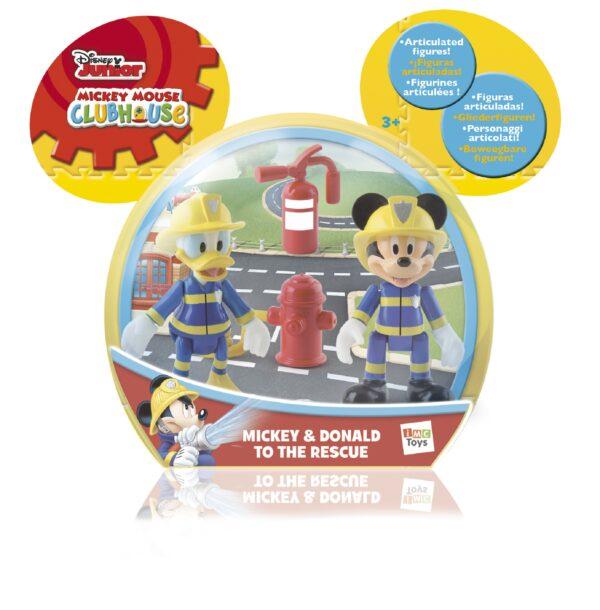 Mickey e Paperino pompieri con accessori - Disney - Action figures