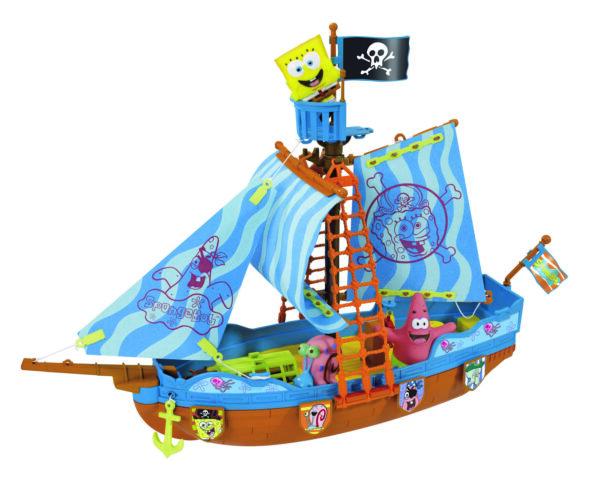 Spongebob Playset Galeone dei pirati cm. 50 con 3 personaggi spruzzacqua inclusi SPONGEBOB Unisex 12-36 Mesi, 3-5 Anni, 5-8 Anni ALTRO