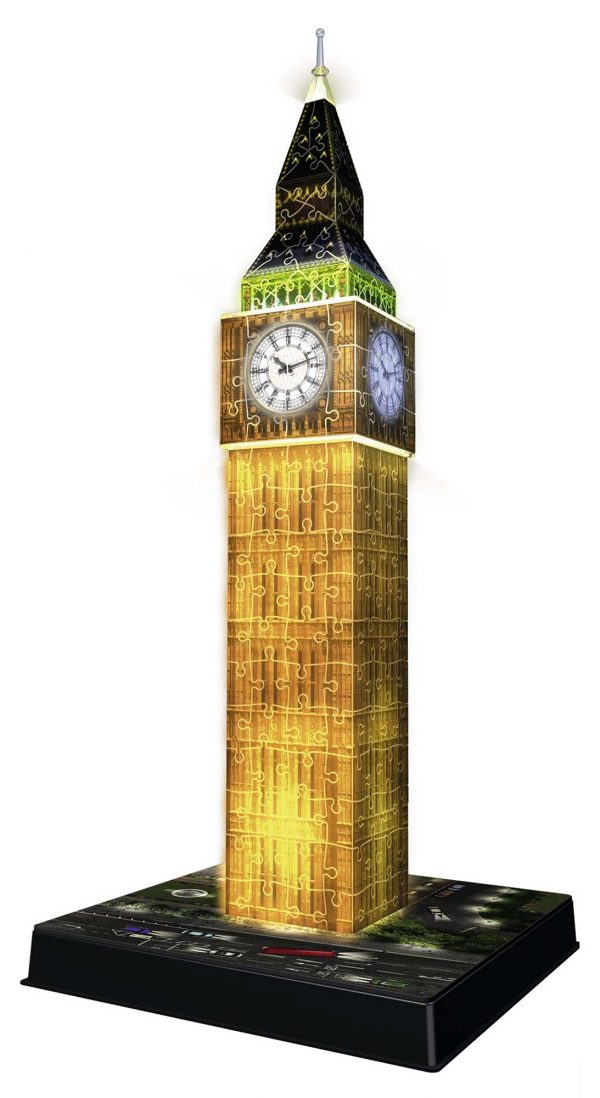 3D Building Big Ben Night Edition ALTRI Unisex 12+ Anni, 8-12 Anni RAVENSBURGER PUZZLE 3D