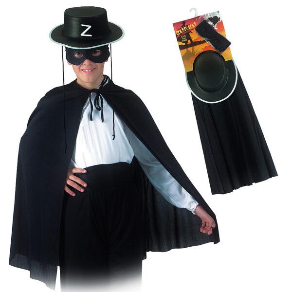 Set cavaliere nero (cappello, mantello, maschera e fusciacca) ALTRO Unisex 12-36 Mesi, 12+ Anni, 3-5 Anni, 5-8 Anni, 8-12 Anni ALTRI