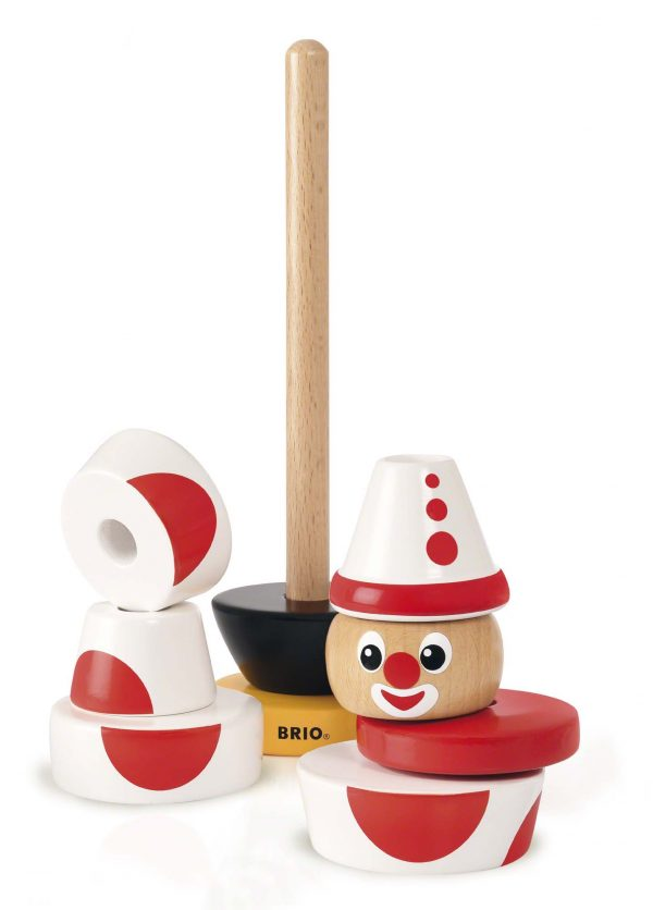 BRIO GIOCHI PEDAGOGICI ALTRI BRIO Clown da impilare - Brio Giochi Pedagogici - Toys Center Unisex 0-12 Mesi, 12-36 Mesi, 3-5 Anni, 5-8 Anni, 8-12 Anni