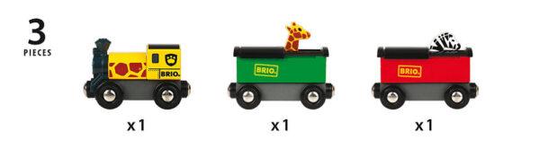 BRIO treno safari - BRIO Trenini, vagoni e altri veicoli - BRIO railway - BRIO - Linee ALTRI Unisex 12-36 Mesi, 3-5 Anni, 5-8 Anni BRIO