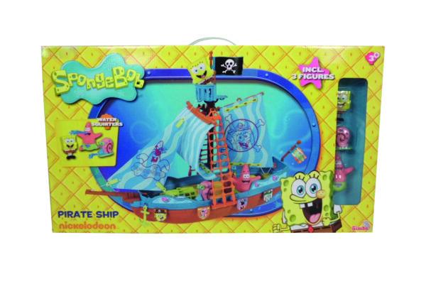 Spongebob Playset Galeone dei pirati cm. 50 con 3 personaggi spruzzacqua inclusi ALTRO Unisex 12-36 Mesi, 3-5 Anni, 5-8 Anni SPONGEBOB