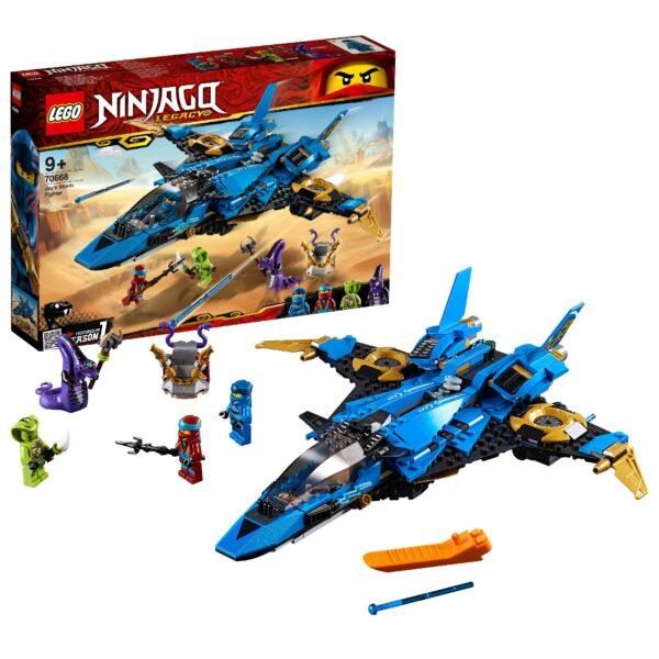 70668 - Il Jet da combattimento di Jay LEGO NINJAGO Unisex 12+ Anni, 8-12 Anni ALTRI