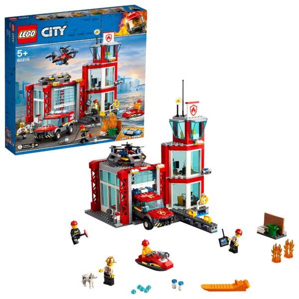 LEGO  Caserma dei Pompieri - 60215 LEGO CITY Unisex 12+ Anni, 3-5 Anni, 5-8 Anni, 8-12 Anni ALTRI