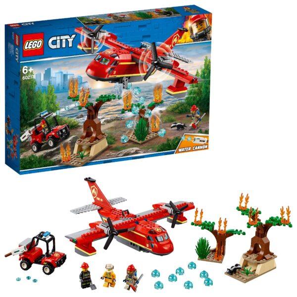 LEGO Aereo antincendio  -60217 - LEGO CITY Unisex 12+ Anni, 5-8 Anni, 8-12 Anni ALTRI