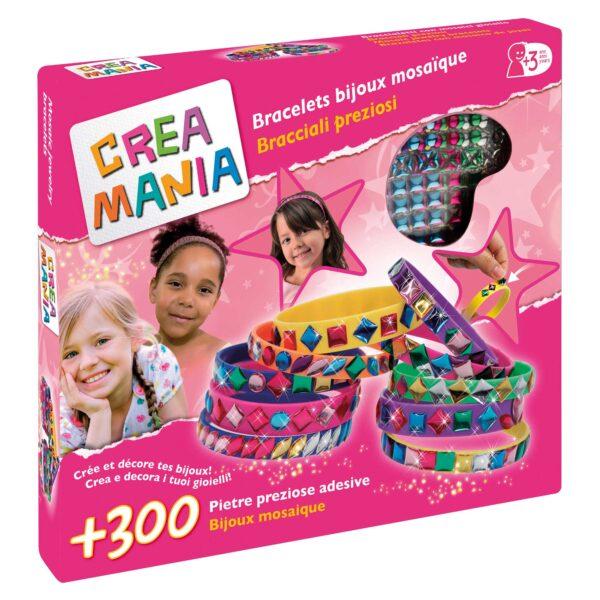 CREA BRACCIALETTI MOSAICO - Giocattoli Toys Center CREAMANIA GIRL Femmina 12-36 Mesi, 3-5 Anni, 5-8 Anni ALTRI