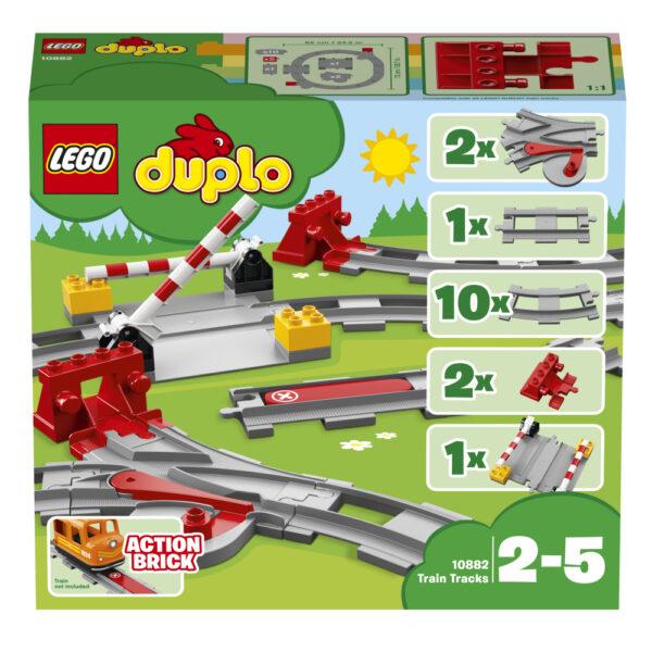 LEGO DUPLO ALTRI 10882 - Binari ferroviari Unisex 12-36 Mesi, 12+ Anni, 3-5 Anni, 5-8 Anni, 8-12 Anni