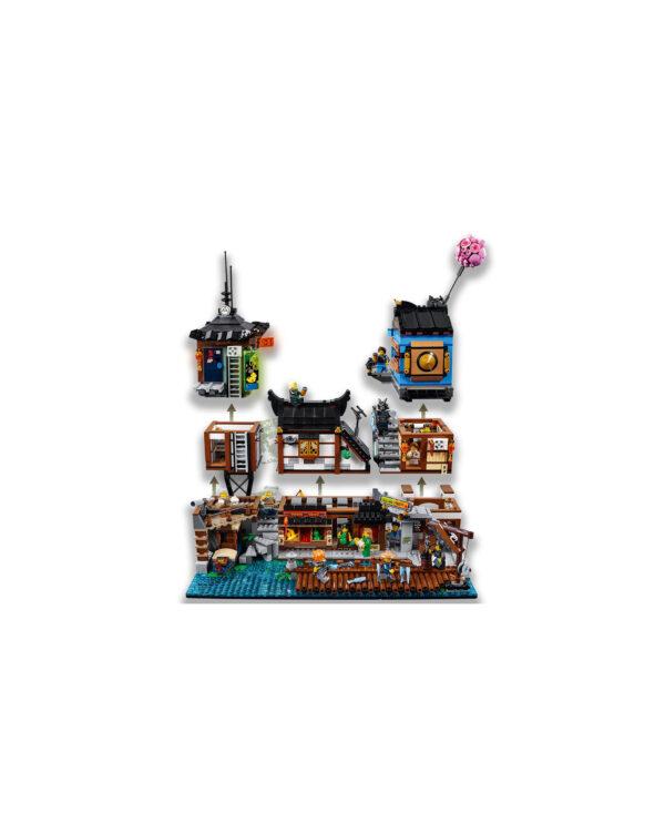 ALTRI LEGO NINJAGO Unisex 12+ Anni, 8-12 Anni 70657 - Porto di NINJAGO® City