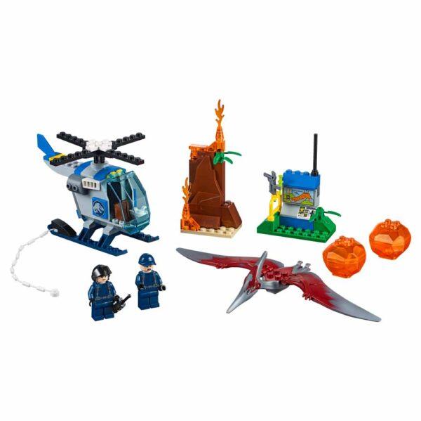 LEGO JUNIORS JURASSIC WORLD 10756 - Fuga dallo Pteranodonte - Lego Juniors - Toys Center Unisex 3-5 Anni, 5-8 Anni