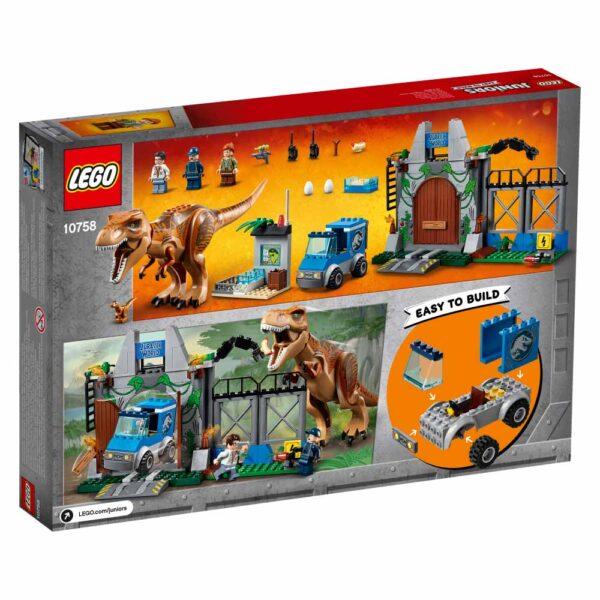10758 - L'evasione del T. rex - Lego Juniors - Toys Center JURASSIC WORLD Unisex 3-5 Anni, 5-8 Anni LEGO JUNIORS