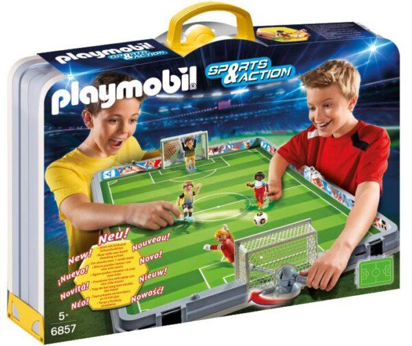 FOOTBALL CAMPO CALCIO PIEGHEV PLAYMOBIL - SPORTS&ACTION Maschio 3-4 Anni, 5-7 Anni, 8-12 Anni ALTRI