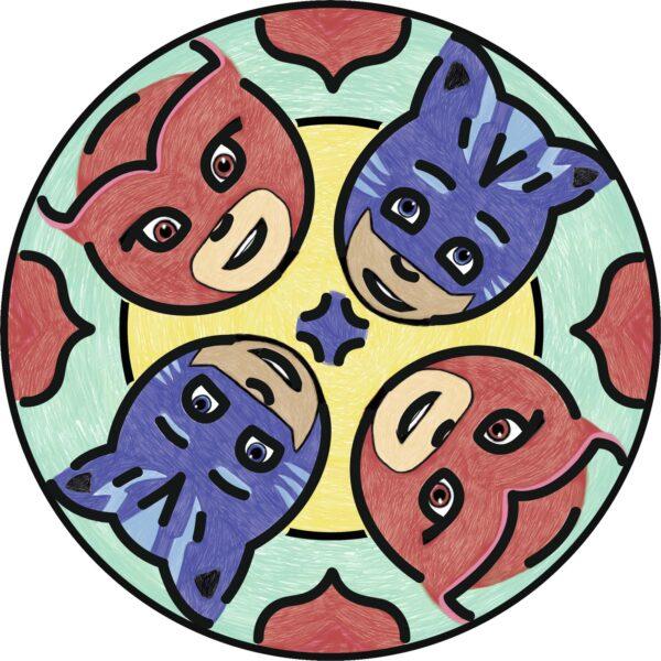 PJ Masks RAVENSBURGER CLASSIC Unisex 12+ Anni, 3-5 Anni, 5-8 Anni, 8-12 Anni Junior Mandala Designer® PJ Masks - Gioco Creativo Ravensburger 29705 - Ravensburger Classic - Toys Center