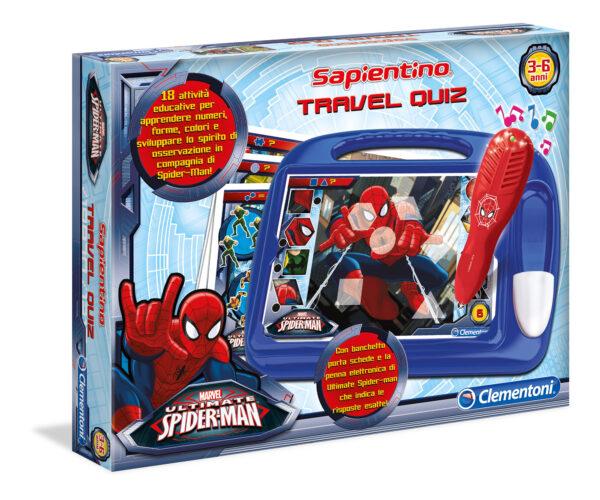CLEMENTONI - 13269 - Sapientino Travel Quiz Spiderman Marvel Unisex 12-36 Mesi, 3-4 Anni, 3-5 Anni, 5-7 Anni, 5-8 Anni Spiderman