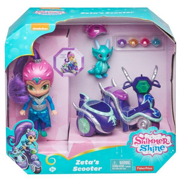Shimmer & Shine - Scooter di Zeta, grande bambola di Zeta con scooter e Nazboo 3+ anni - FHN31 12-36 Mesi, 12+ Anni, 3-5 Anni, 5-8 Anni, 8-12 Anni Femmina ALTRO SHIMMER & SHINE