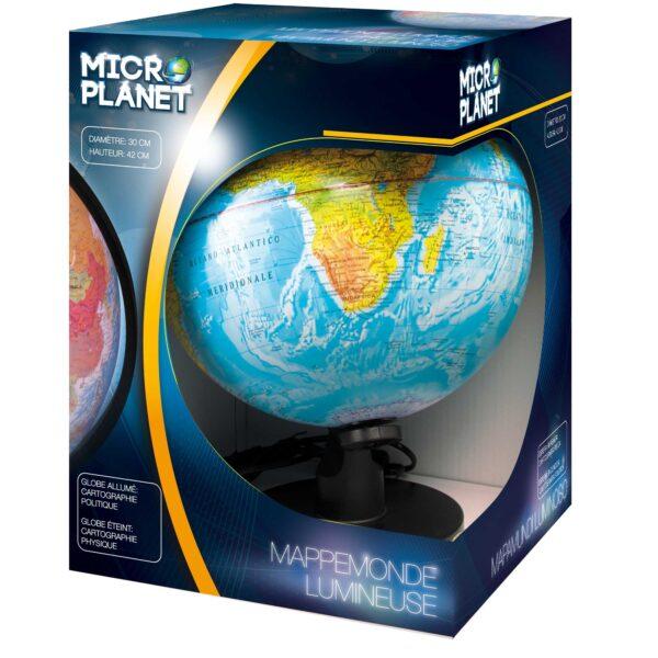 MAPPAMONDO LUMINOSO 30 CM - Microplanet - Toys Center MICROPLANET Unisex 12-36 Mesi, 3-5 Anni, 5-8 Anni ALTRI