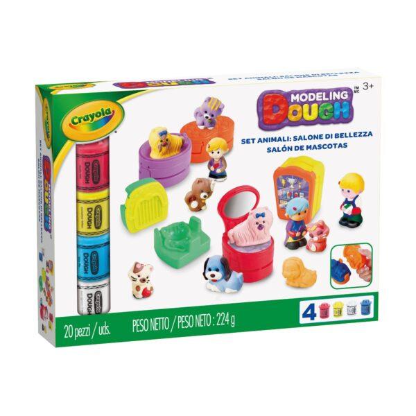 Pasta da modellare - Set Animali: Salone di bellezza Crayola ALTRO Unisex 12-36 Mesi, 3-5 Anni, 5-8 Anni, 8-12 Anni ALTRI