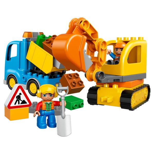 10812 - Camion e scavatrice cingolata ALTRI Unisex 12-36 Mesi, 3-4 Anni, 3-5 Anni, 5-7 Anni, 5-8 Anni LEGO DUPLO