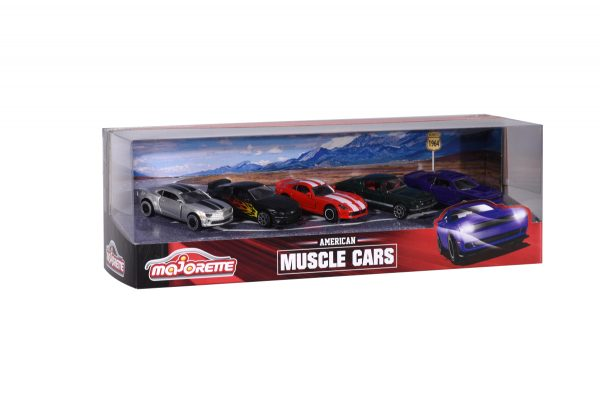 """Majorette Giftpack """"Muscle"""" 1:64 5 pz in scatola vetrina - Majorette - Toys Center - MAJORETTE - Macchinine classiche"""