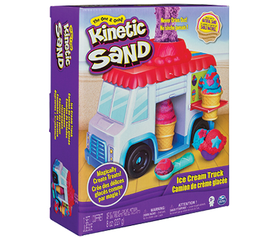 Spin Master ALTRI KINETIC SAND Furgoncino dei gelati - Kinetic Sand - Toys Center Unisex 12-36 Mesi, 12+ Anni, 8-12 Anni