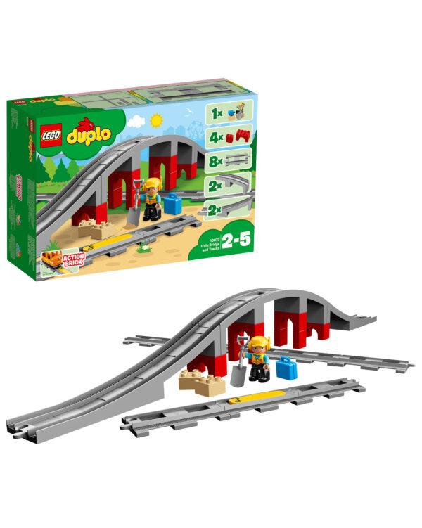 10872 - Ponte e binari ferroviari LEGO DUPLO Unisex 12-36 Mesi, 12+ Anni, 3-5 Anni, 5-8 Anni, 8-12 Anni ALTRI
