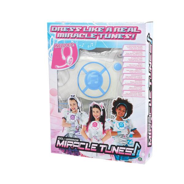 Giochi Preziosi - Miracle Tunes Travestimento Jasmine, Colore Azzurro, con cuffie, taglie S/M/L ALTRO Femmina 8-12 Anni ALTRI