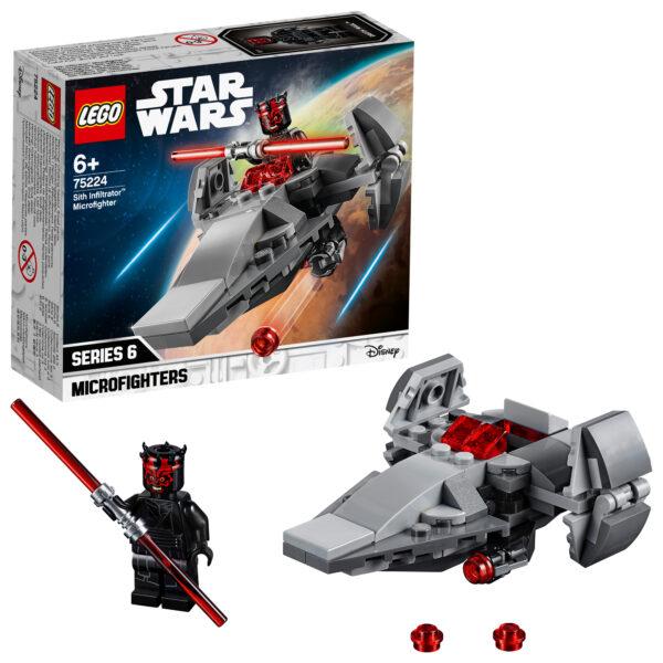 75224 - Microfighter Sith Infiltrator™ - DISNEY - DISNEY - Marche Disney Unisex 12+ Anni, 5-8 Anni, 8-12 Anni Star Wars
