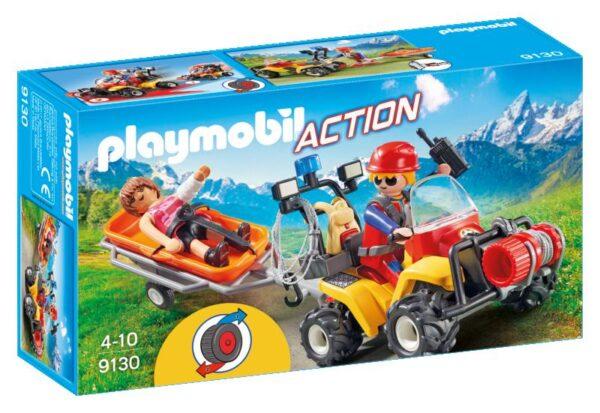 MOUNTAIN QUAD SOCCORSO ALPINO PLAYMOBIL - ACTION Maschio 3-4 Anni, 5-7 Anni, 8-12 Anni ALTRI