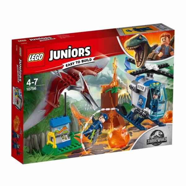 10756 - Fuga dallo Pteranodonte - Lego Juniors - Toys Center LEGO JUNIORS Unisex 3-5 Anni, 5-8 Anni JURASSIC WORLD