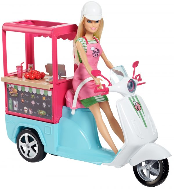 Barbie - Scooter Street Food, con tanti accessori realistici - FHR08 ENCHANTIMALS Femmina 12-36 Mesi, 12+ Anni, 3-5 Anni, 5-8 Anni, 8-12 Anni ALTRI