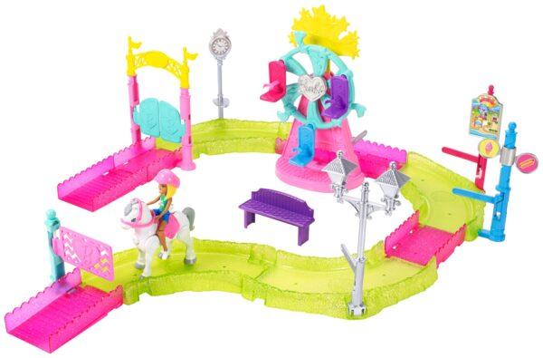 Barbie parti e vai - Parti e Vai Luna Park, bambola e pony inclusi e pezzi componibili - FHV70 Barbie Femmina 12+ Anni, 3-5 Anni, 5-8 Anni, 8-12 Anni ALTRI