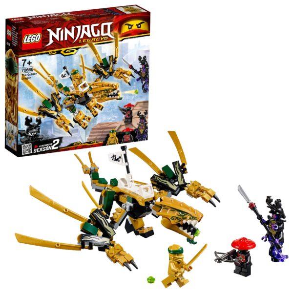 70666 - Il Dragone d'oro LEGO NINJAGO Unisex 12+ Anni, 5-8 Anni, 8-12 Anni ALTRI
