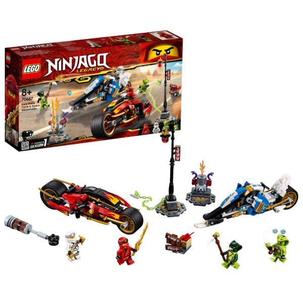 70667 - Moto-lama di Kai e Moto-neve di Zane LEGO NINJAGO Unisex 12+ Anni, 5-8 Anni, 8-12 Anni ALTRI
