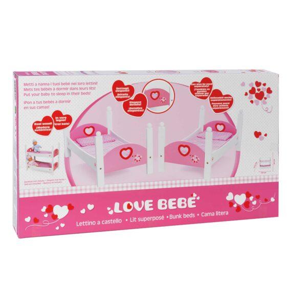LOVE BEBÈ LETTO CASTEL LEGNO - Love BebÈ - Toys Center ALTRI Femmina 12-36 Mesi, 3-5 Anni, 5-8 Anni, 8-12 Anni LOVE BEBÈ